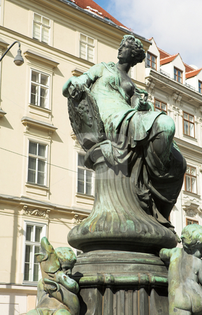 Statues infront of buildings in Vienna stock photo, Statues infront of buildings in Vienna, Austria by Sean Nel