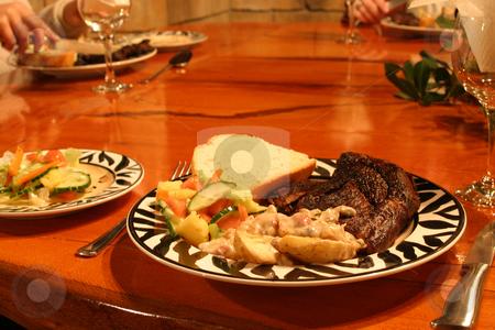 Suppertime on Safari stock photo, Dinner on a safari trip by Sean Nel