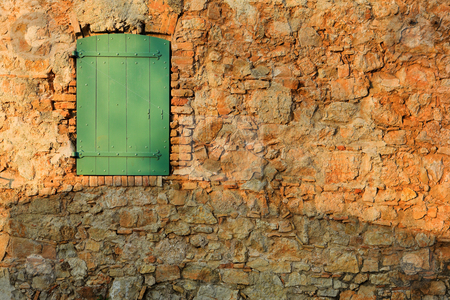 Isledemarguerite #26 stock photo, An old locked window in the famous Ile Sainte Marguerite  by Sean Nel