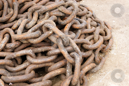 Chain #2 stock photo, Rusted Harbour Chain by Sean Nel