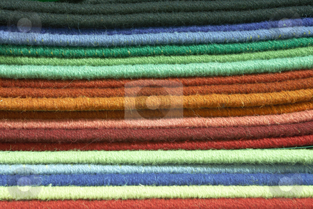 Carpet texture swatches and samples stock photo, Colorful material swatches and samples for carpeting as used by interior decorators (shallow Depth of Field) by Sean Nel