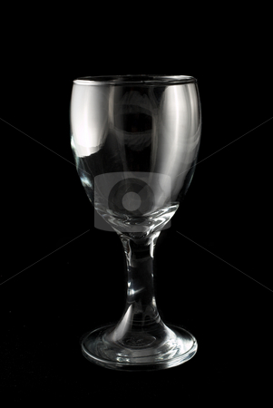 Glass #5 stock photo, Wine glass on black background by Sean Nel