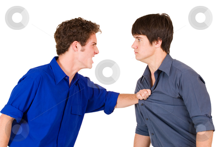 Business People #20 stock photo, Two business partners fighting by Sean Nel
