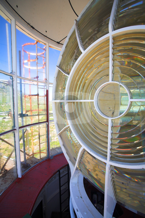 Lighthouse #7 stock photo, Inside the Slangkop Lighthouse at Kommetjie, Western Cape. The Tallest Lighthouse in South Africa by Sean Nel