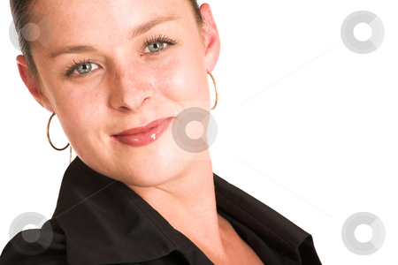 Charmaine Shoultz #20 stock photo, Business woman dressed in a black shirt - copy space by Sean Nel