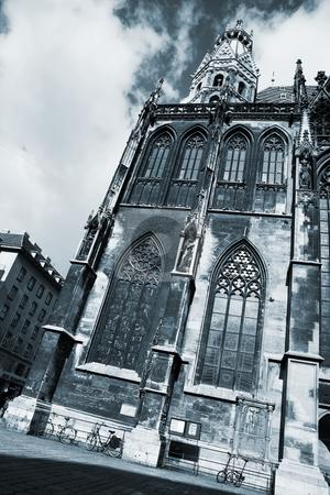 Vienna #38 stock photo, St Stephens DOM - Vienna, Austria - Blue tone by Sean Nel