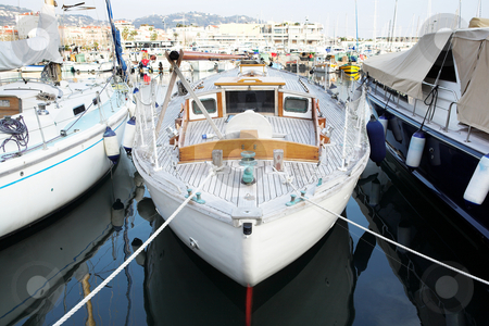Cannes #53 stock photo, Yachts in the the harbor (Port Le Vieux) in Cannes, France. by Sean Nel
