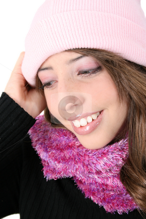 Winter Teen stock photo, Beautiful teenage female model in winter attire by Vanessa Van Rensburg