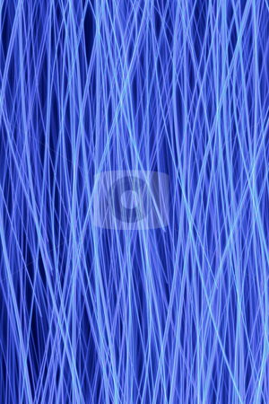 Bright blue LED lights lines abstract pattern background. stock photo, Bright blue LED lights lines abstract pattern background. by Stephen Rees