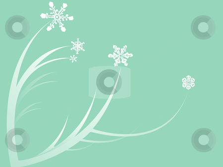 Snowdrops stock vector clipart, Flowers with snowflakes for winter blossoms. by Jeffrey Thompson