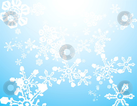 Snow Storm Background stock vector clipart, Snowstorm background image with falling mixed snowflakes. by Jeffrey Thompson
