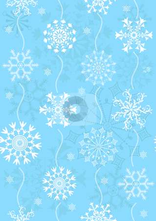 Seamless pastel blue christmas pattern stock vector clipart, Seamless pastel blue christmas pattern (vector) by Olga Drozdova