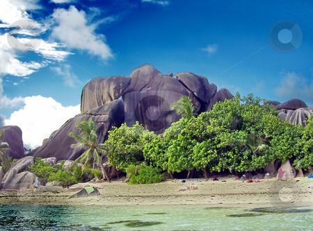 Rocks on island stock photo, Rocks on island. Seychelles by Sergey Gorodenskiy