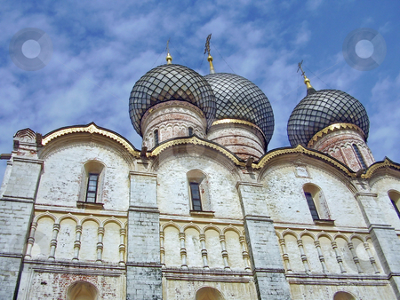 Domes of church  stock photo, Domes of church in Rostov Great by Sergey Gorodenskiy