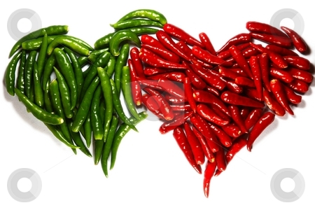 Spicy harts stock photo, Symbol of love - Spicy harts isolated on white by Oleg Blazhyievskyi