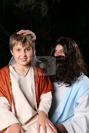 Jesus Blessing Children stock photo, Jesus Blessing Children by Leah-Anne Thompson