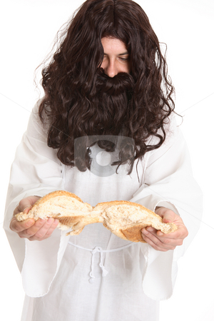 Prophet with Bread stock photo, Prophet with Bread by Leah-Anne Thompson