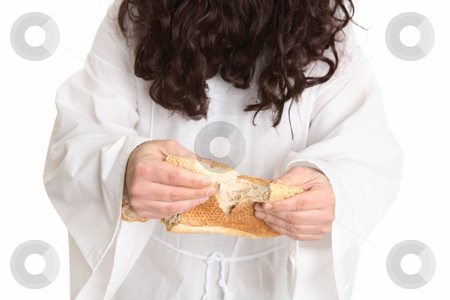 Jesus gave thanks and broke the bread stock photo, Jesus gave thanks and broke the bread by Leah-Anne Thompson