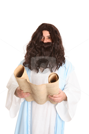 Jesus reading the scriptures  stock photo, Jesus reading the scriptures by Leah-Anne Thompson