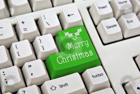 Merry christmas keyboard stock photo, Wish everyone a merry christmas with this keyboard key by Phil Morley