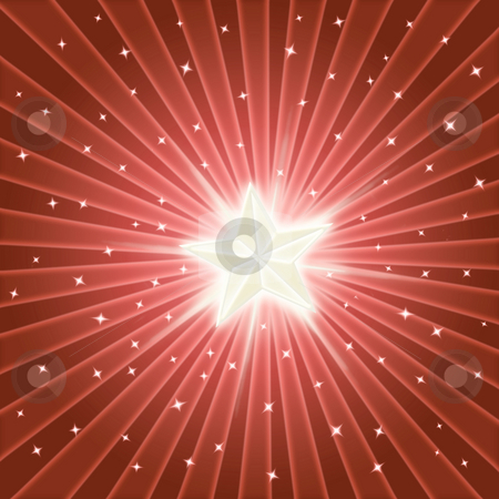 Bright shiny star stock photo, Bright shining star in a colourful starburst by Phil Morley