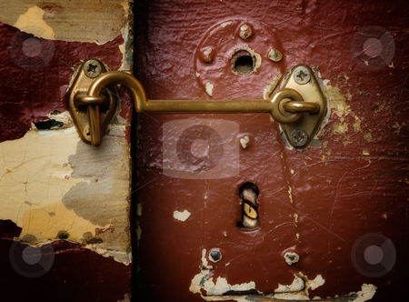 Spy stock photo, Watching through a keyhole from the other side of the door. by Sinisa Botas