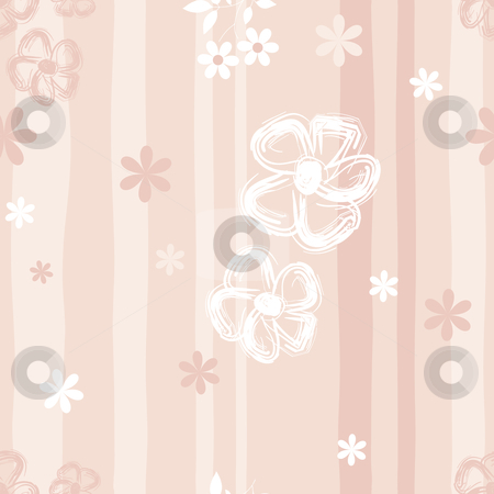 Gentle seamless pink floral pattern stock vector clipart, Gentle seamless pink floral pattern (vector) by Olga Drozdova
