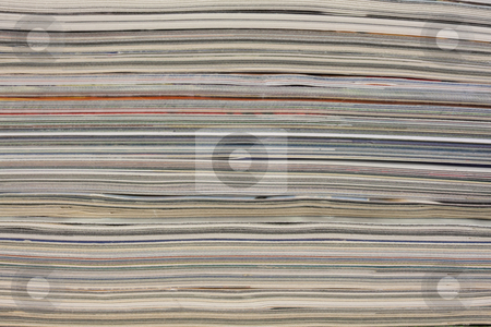 Stack of colorful magazines - background stock photo, Stack of colorful magazines or documents - paper edges background by Marek Uliasz