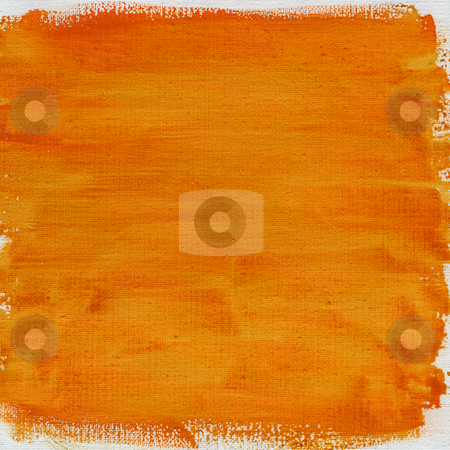 Orange watercolor abstract with canvas texture stock photo, Texture of nonuniform orange yellow watercolor abstract on cotton canvas, rough edges, self made by Marek Uliasz