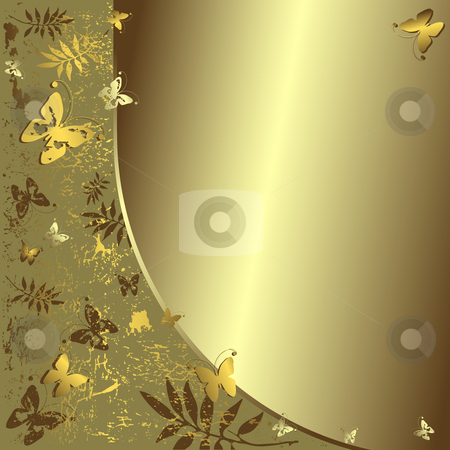 Grunge silver background stock vector clipart, Grunge grey  background with  butterflies by Olga Drozdova