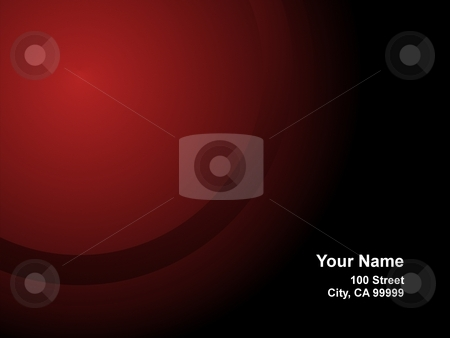 Business Card Red stock photo, Red Business Card with a radial gradient by Henrik Lehnerer