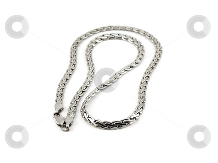 Silver chain stock photo,  by Sergei Devyatkin