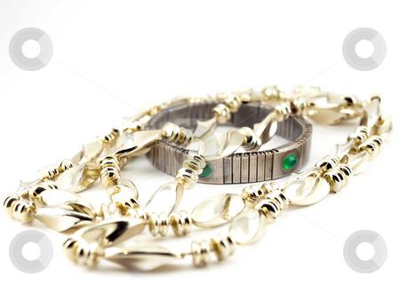Beads and bracelet stock photo,  by Sergei Devyatkin