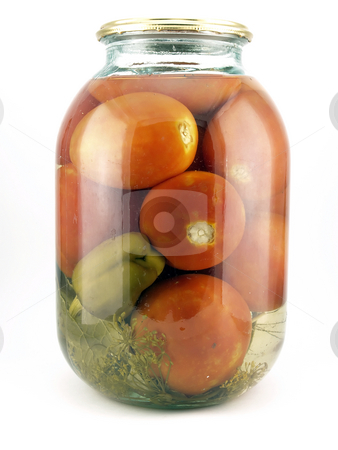 Conserve tomatoes stock photo,  by Sergei Devyatkin