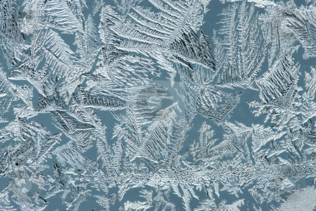 Hoarfrost on glass stock photo, Hoarfrost on glass, texture of ice in thee cold winter. by Vladimir Blinov