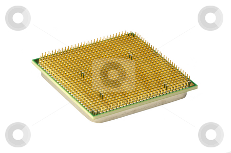 CPU, hyper DoF. stock photo, Computer accessories, the central processor, isolated, legs upwards, hyper DoF. by Vladimir Blinov