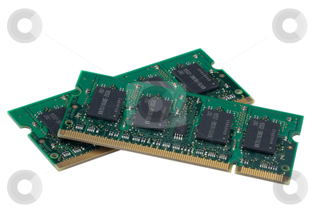 Computer memory, hyper DoF. stock photo, Computer accessories, the laptop memory, isolated, hyper DoF. by Vladimir Blinov