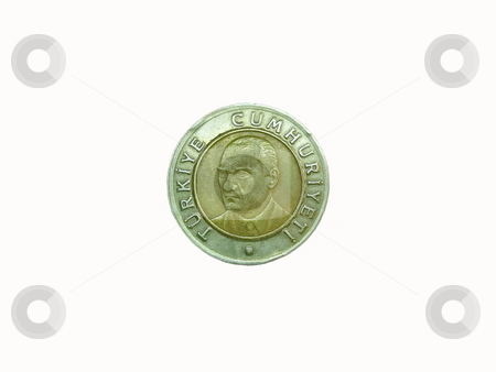 Coin isolated on white stock photo, Coin isolated on white by Sergey Gorodenskiy