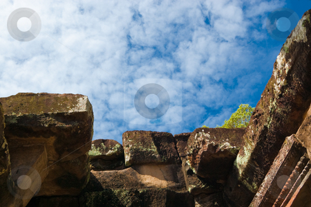 Ancient ruins and a blue sky stock photo, Ancient ruins and a blue sky by Pavel Filippov