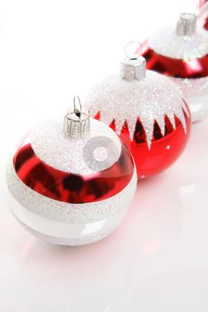 Christmas Tree Decorations stock photo, Closeup of some Christmas tree decorations. by Leah-Anne Thompson