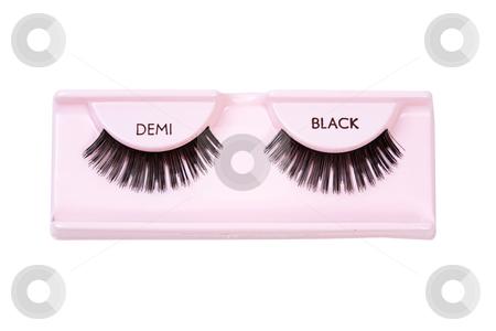 Black demi lashes stock photo, A pair of black demi false eyelashes by Leah-Anne Thompson