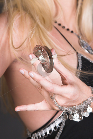 Tribal Zagat stock photo, Belly Dancer hands holding Tribal Zagat or finger symbols by Carla Booysen