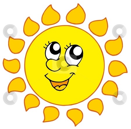 Cartoon smiling Sun stock vector clipart, Cartoon smiling Sun - vector illustration. by Klara Viskova