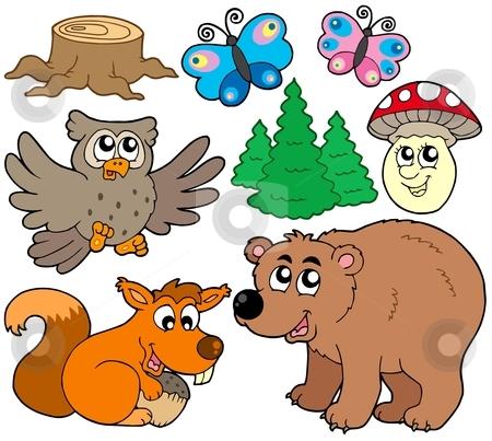 Forest animals collection 3 stock vector clipart, Forest animals collection 3 - vector illustration. by Klara Viskova