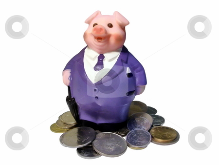 Piggy bank stock photo,  by Sergey Gorodenskiy