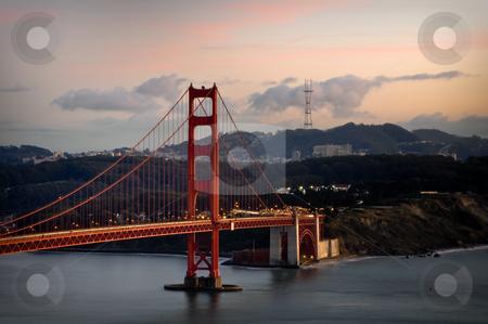 Amazing Golden Gate Bridge in San Francisco Bay stock photo, Amazing Golden Gate Bridge in San Francisco Bay by Brandon Bourdages