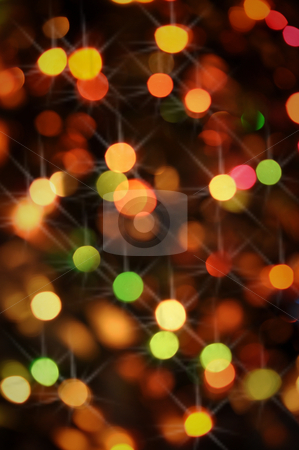 Red Christmas Lights with Sparkles stock photo, Festive and Colotful Christmas Lights for the Holidays by Brandon Bourdages