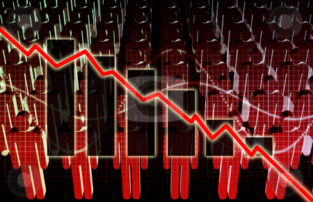 Rising Unemployment stock photo, Rising Unemployment Rates Economic as a Graph by Kheng Ho Toh