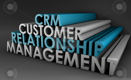 Customer Relationship Management CRM stock photo, Customer Relationship Management CRM in 3d Art by Kheng Ho Toh