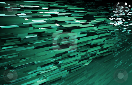 Abstract Geometric Background stock photo, Abstract Geometric Background with a 3d Data Art by Kheng Ho Toh